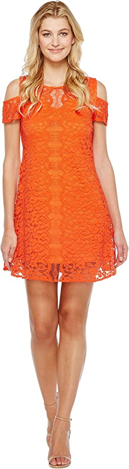 Christin Michaels - Jeannine Cold Shoulder Lace Dress
