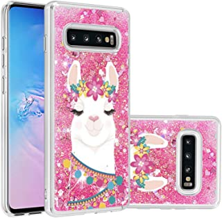جراب Mylne Liquid لهاتف Samsung Galaxy S10 Plus، غطاء رملي متحرك لامع ممتص للصدمات لامع صافٍ صافٍ