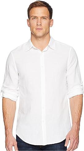 a3bb020495 Calvin Klein Slim Fit Long Sleeve Infinite Cool Chambray Twill Shirt ...