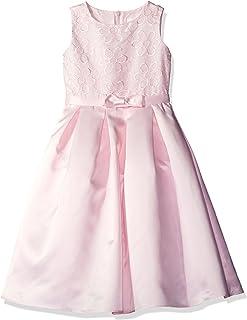 Lavender Flower Girl Dress W/org Emb Bodice and Satin Box PLT Skirt