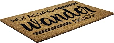 Entryways P2217 Wonder, Coir with PVC Backing 17 inches by 28 inches by .5 inches Not All Who Wander, 1 EA, Multi