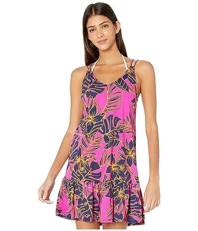 Maaji Mermaizing Two-Way Short Dress Cover-Up (Hibiscus Pink Floral) Women