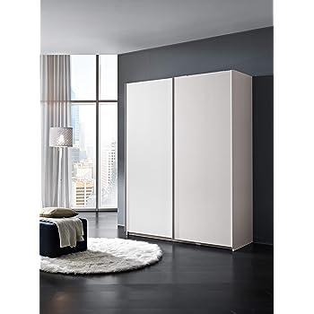 InHouse srls Armario de madera, 2 puertas correderas, color blanco fresno, med. 211 x 163,4 x 60,5 cm.: Amazon.es: Hogar