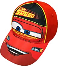 Disney Pixar Toddler Boys Cars Lightning McQueen Baseball Cap Age 2-5 Red