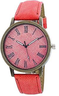 Neuve Casual Watch For Girls Analog PU Leather - MJW 015 pink