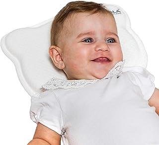 Almohada para bebés para plagiocefalia, desenfundable (con dos fundas) para prevenir el aplanamiento, de Memory Foam - Blanco