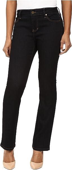 Liverpool - Petite Saddie's Straight Jeans in Indigo Rinse/Indigo