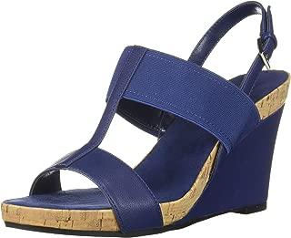 womens blue wedge sandals