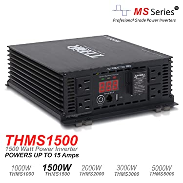 THOR Manufacturing THMS1500 1500W Power Inverter with USB 2.1