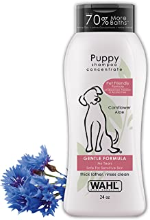 Wahl Gentle Puppy Shampoo for Pets – Cornflower & Aloe with 100% Natural Ingredients for Grooming Dirty Dogs – 24 Oz