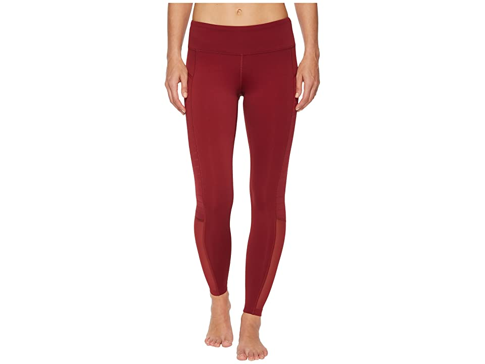 Reebok Mesh Tights (Urban Maroon) Women