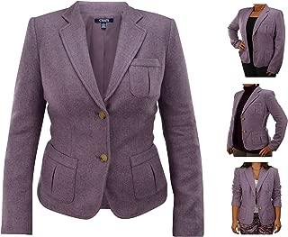 Wool-Blend Women's & Girls Blazer Purple