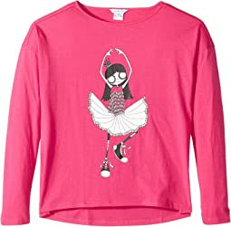 Little Marc Jacobs - Long Sleeve T-Shirt (Big Kids)