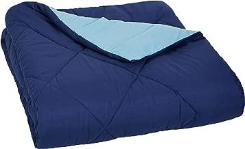 AmazonBasics Reversible Microfiber Comforter Blanket - Twin or Twin XL, Navy Blue