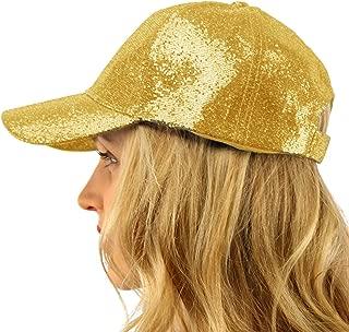 Everyday Glitter Dance Party Bling Liquid Baseball Sun Visor Ball Cap Hat