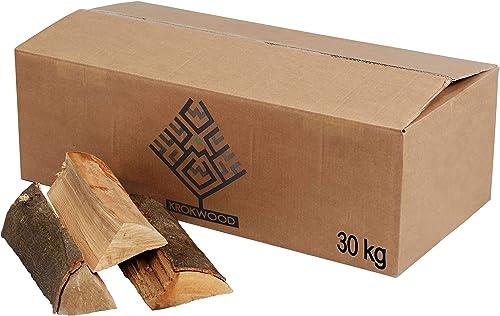 30 kg de bois de chauffage de hêtre prêt à l'emploi (jusqu'à 25 cm)