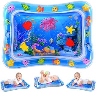 Water Play Mat, Inflatable Infant Baby Toys and Toddler Entertainment Activity Game Center, used for the growth of the bra...