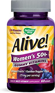 Nature's Way Alive Women's 50+ Gummy Vitamin, 60 Gummies
