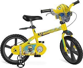 """Bicicleta Aro Transformers Bandeirante Amarelo 14"""""""