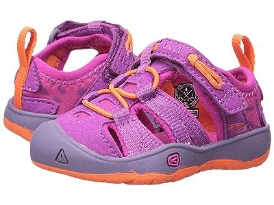 Keen Kids Moxie Sandal (Toddler) (Purple Wine/Nasturtium) Girls Shoes