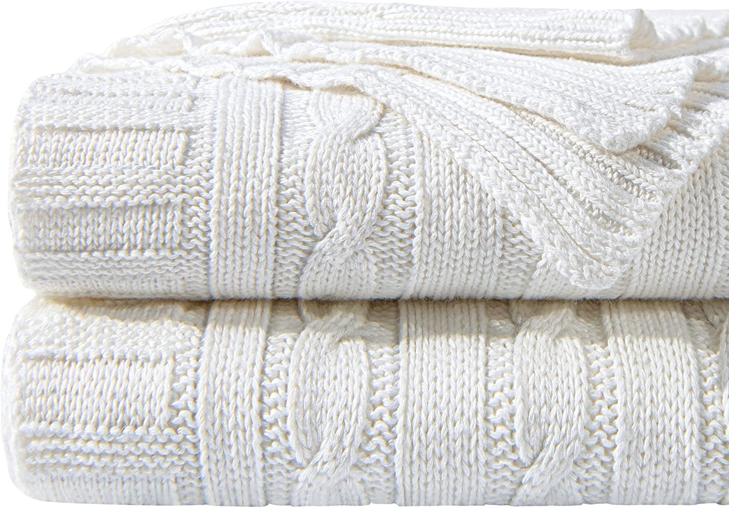 NTBAY Cotton Cable Brand new Knit Throw Super Soft Multi Warm Color Max 69% OFF Blank