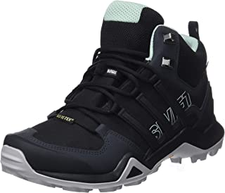 adidas, Terrex Swift R2 Mid GTX Hikings Boots, Women's Shoes, Black/Black/Ash Green, 5.5 US