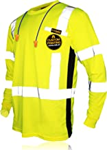 KwikSafety (Charlotte, NC) OPERATOR (with POCKET and Solid Reflective) Class 3 ANSI High Visibility Safety Shirt Tape Cons...