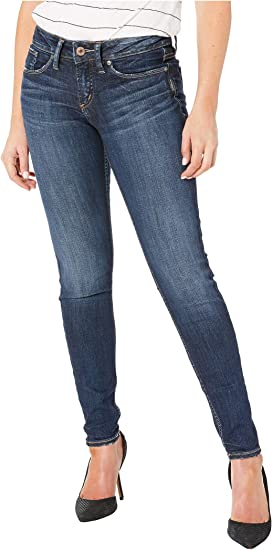 591619936739 Silver Jeans Co. Suki Mid-Rise Perfectly Curvy Straight Leg Jeans in ...