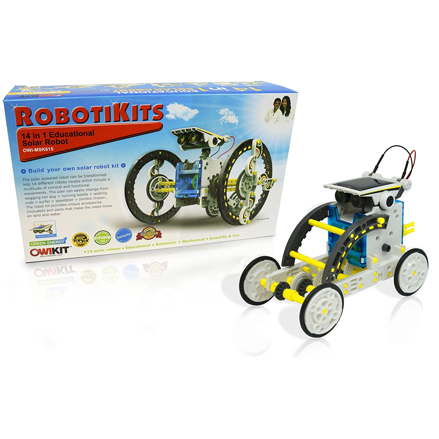 14-in-1 Educational Solar Robot | Build-Your-Own Robot Kit | Powered by the Sun qhqztmogcwr72
