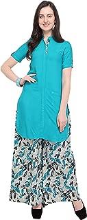 OOMPH! Women's Rayon a-line Salwar Suit Set