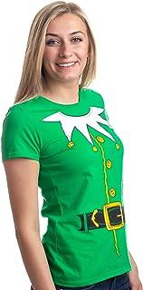 Santa's Elf Costume | Jumbo Print Novelty Christmas Holiday Humor Ladies T-Shirt
