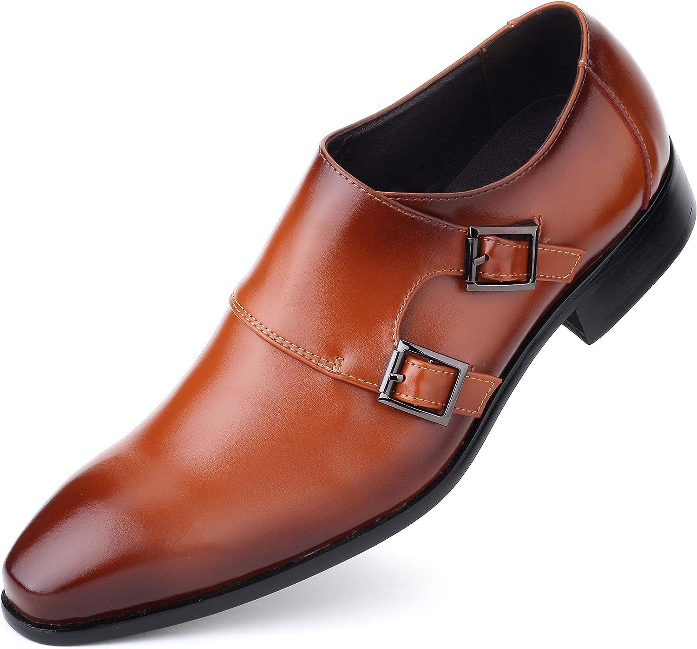Mens Oxford Shoes Formal Leather Mens Dress Shoes - Men Wedding Shoes in A Bag - Saddle Bronze - 9 D(M) US