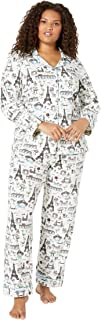 BedHead Pajamas Plus Size Long Sleeve Classic Notch Collar PJ Set Sightseeing 2X (US 20-22)
