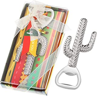 36 Pcs Mexican Party Favors Cactus Beer Bottle Opener, Cactus Llama Party Souvenir, Mexican Fiesta Wedding Baby Shower Party Gift Game Prize Keepsake, Individually Packaged, NO DIY Required (Silver)