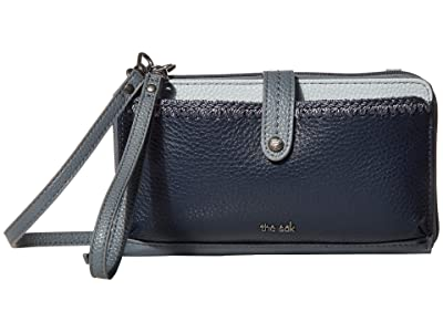 The Sak Iris Large Smartphone Crossbody (Denim Block) Cross Body Handbags