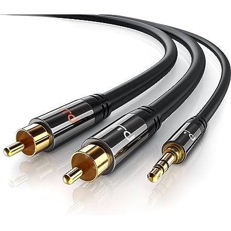 Csl Cinch Auf Klinke Kabel 10m 3 5mm Klinken Elektronik