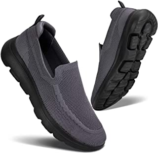 Men's Slip on Loafers Walking Shoes - Mesh Casual Tennis Sneaker