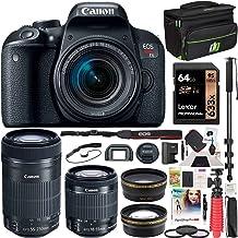 $849 » Canon EOS Rebel T7i DSLR Digital SLR Camera + EF-S 18-55mm is STM + EF-S 55-250mm is STM 2 Lens Kit + 0.43x Wide Angle Lens + 2.2X Telephoto Lens + Deco Gear Case + 64GB Memory Card Accessory Bundle