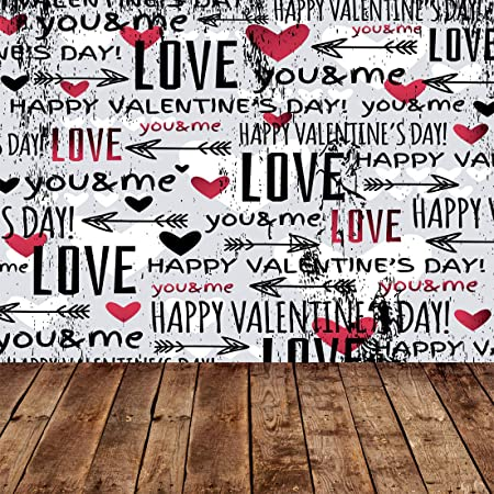 GoHeBe 10X10FT Seamless Valentines Day Theme Pictorial Cloth Customized Photography Backdrop Background Studio Prop VDD089C