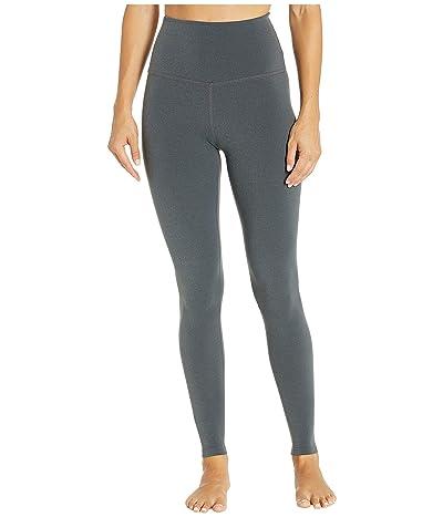 Beyond Yoga Plush High-Waisted Long Leggings (Charcoal Heather Gray) Women