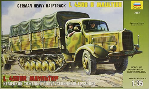 Zvezda - Z3603 - Maquette - Halftrack Maulcravater 4,5T - Echelle 1 35