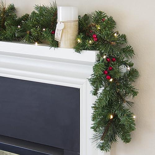 Christmas Staircase Garland Amazon Com