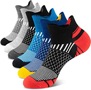 Onmaita Calcetines deportivos para hombres y mujeres, 6 pares de calcetines deportivos cortos para actividades al aire lib...