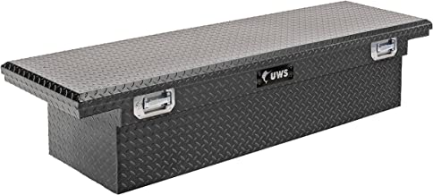 UWS EC10633 Pull Handle 72-Inch Matte Black Heavy-Wall Aluminum Truck Tool Box with Low Profile, RigidCore Lid