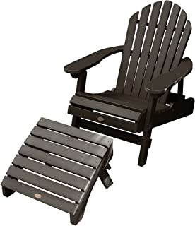 Highwood AD-KITCHL1-ACE Adirondack Chair with Ottoman, Weathered Acorn