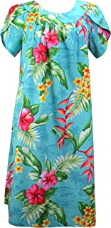 Women's Maui Hibiscus Heliconia Muumuu Dress