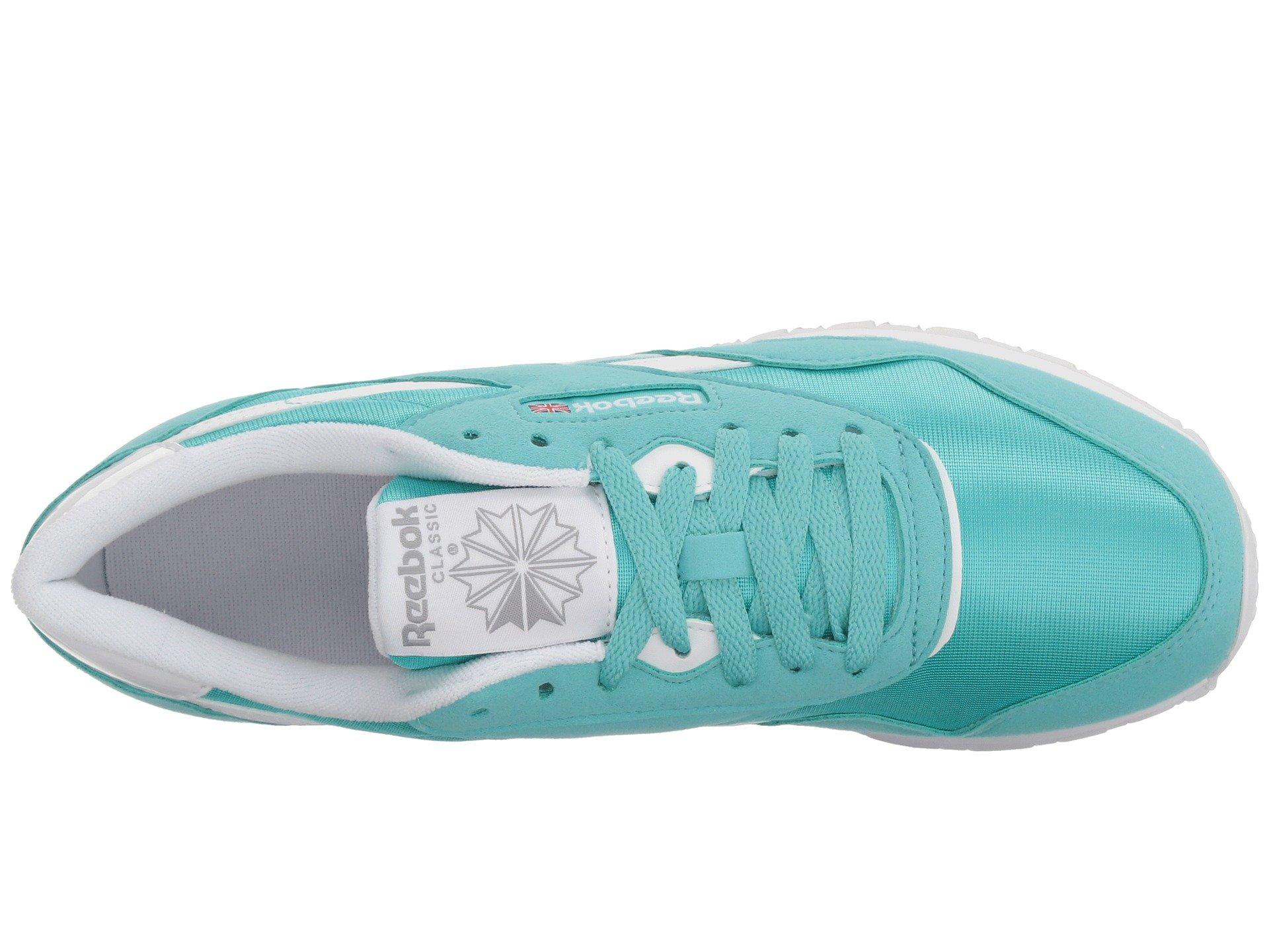 Grey stark white Brights Nylon Turquoise Reebok Lifestyle Classic gxYq7wf80