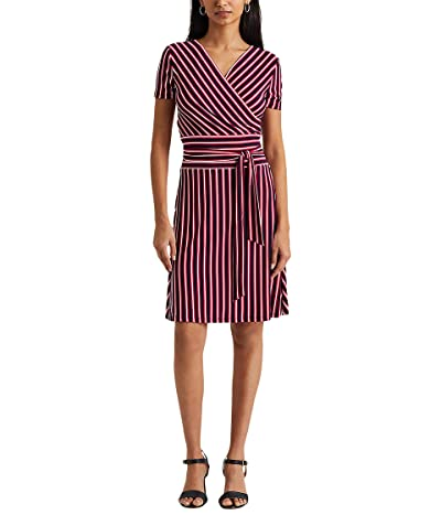 LAUREN Ralph Lauren Striped Jersey Fit-and-Flare Dress Women