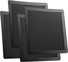 80mm Fan Dust Filter Mesh 3.15inch 8cm Magnetic PVC PC Case Fan Dust Cover Grills Black 4-Pack