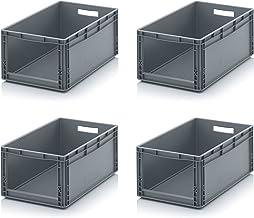 4x Euro Sichtlagerkasten 60 x 40 x 27 cm inkl. gratis Zollstock * Eurobehälter mit Fenster